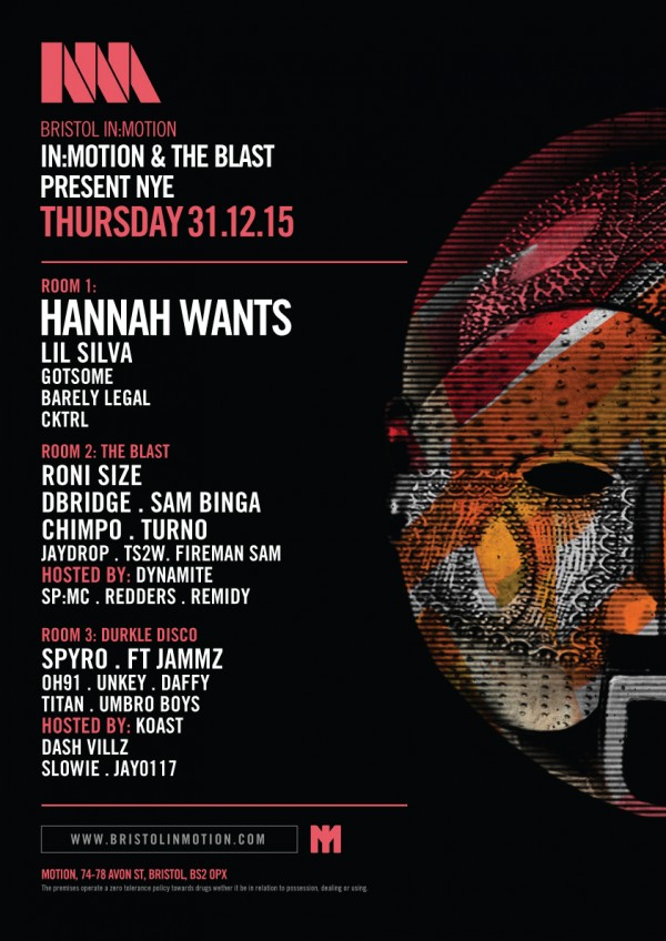 In-Motion NYE line up poster