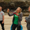 KITE SURF CHAMPION KIRSTY JONES DEMONSTRATES SEA SENSE IN CORNWALL
