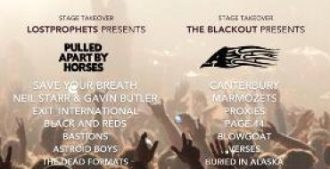 LOSTPROPHETS AND THE BLACKOUT CURATE MERTHYR ROCK 2012