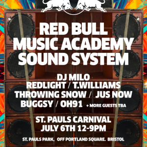 RED BULL MUSIC ACADEMY SOUND SYSTEM AT ST PAULS CARNIVAL